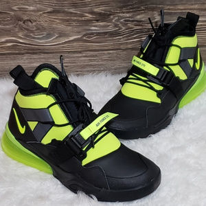 New Nike Air Force 270 Utility black neon Sneakers